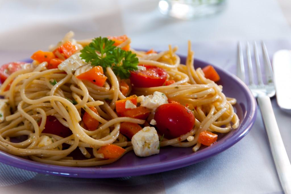 Vollkornspaghetti-Salat