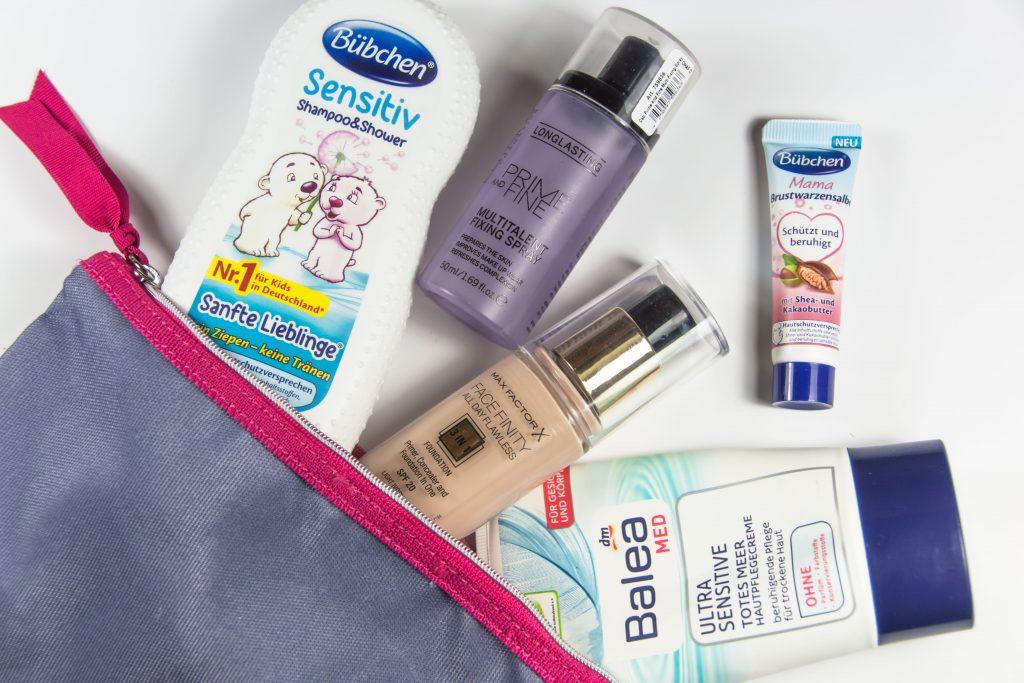 Beautyprodukte auf Reisen