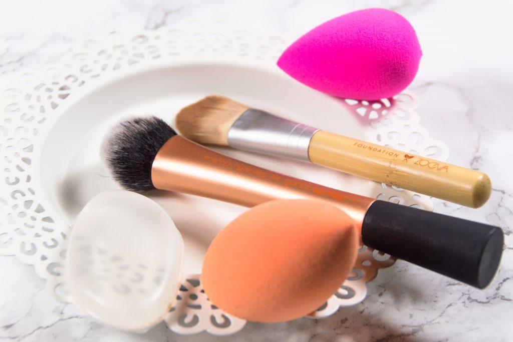 Foundation auftragen, Beautyblender, Silisponge