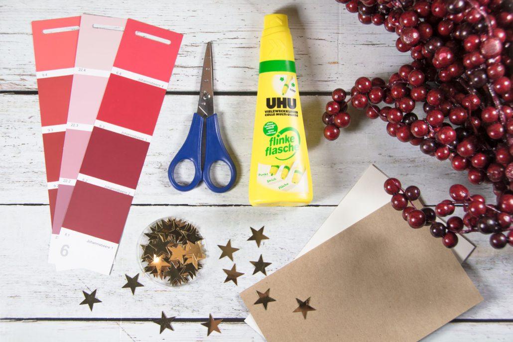 Weihnachtskarten selber basteln-DIY