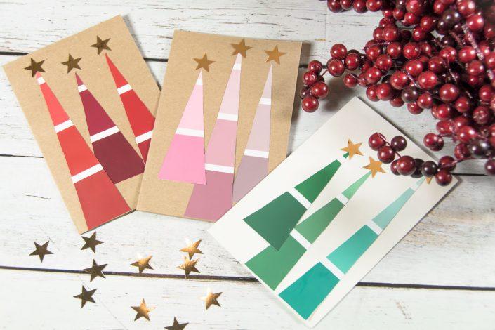 Weihnachtskarten selber basteln